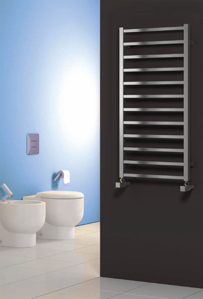 Reina Arden Stainless Steel Radiator - Polished profile large image view 1
