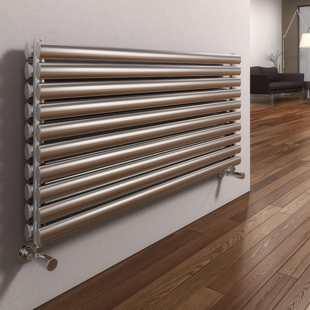 Reina Artena Double Panel Stainless Steel Radiator - Satin Large Image