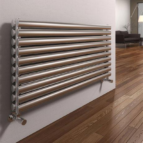 Reina Artena Double Panel Stainless Steel Radiator - Satin