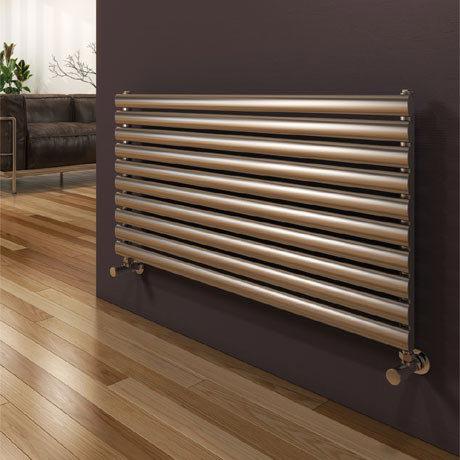Reina Artena Single Panel Stainless Steel Radiator - Satin