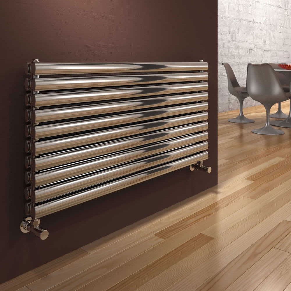 Reina Artena Double Panel Stainless Steel Radiator - Polished Large Image