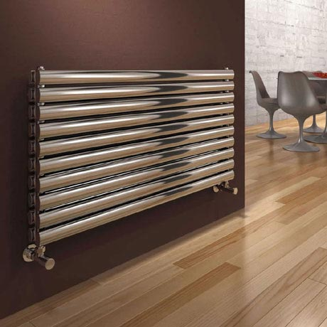 Reina Artena Double Panel Stainless Steel Radiator - Polished