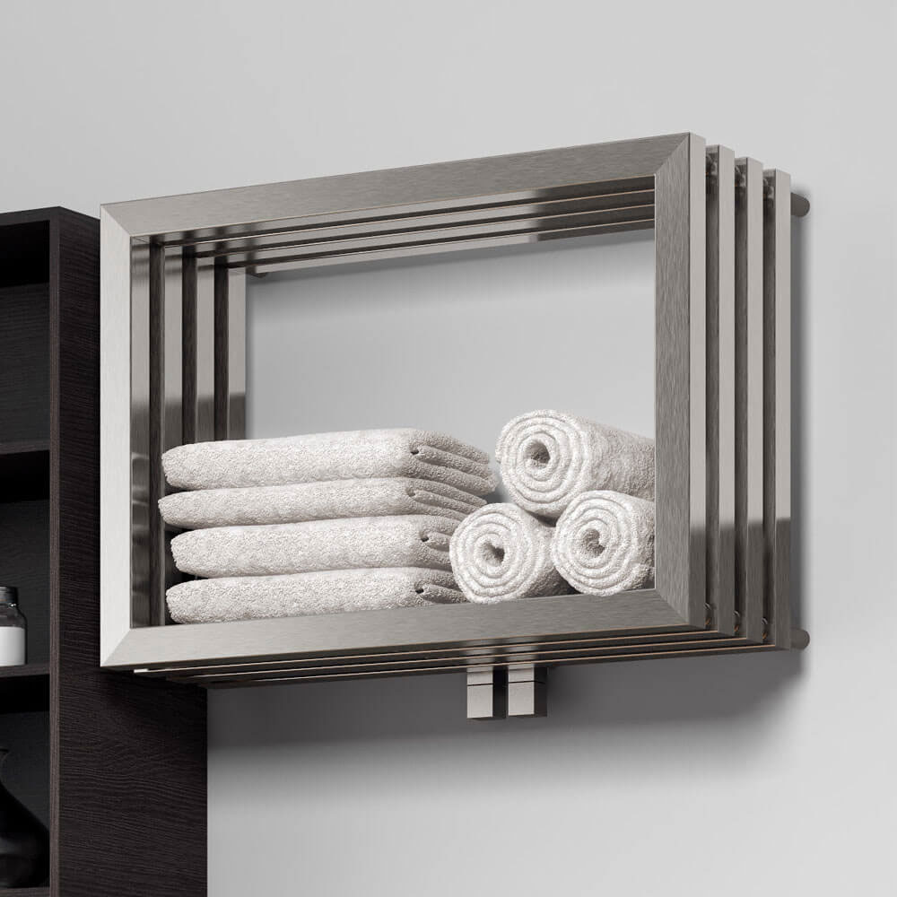 Reina Caldo Stainless Steel Radiator - 500 x 700mm - Satin Large Image
