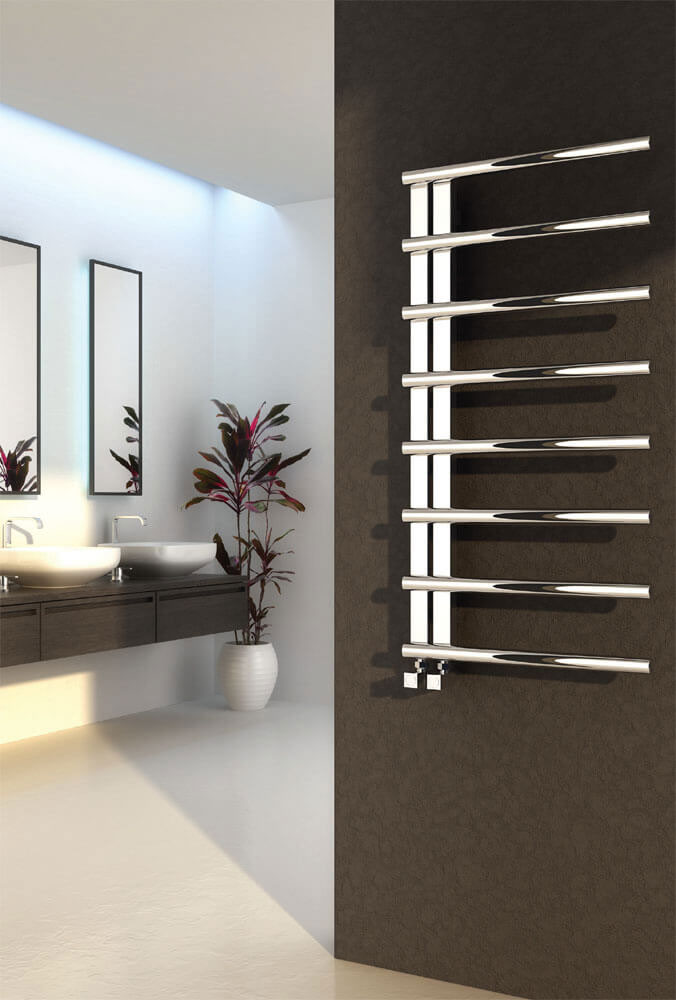 Reina Celico Stainless Steel Radiator - Polished profile large image view 1