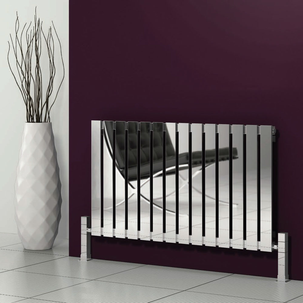 Reina Calix Stainless Steel Radiator - Polished profile large image view 1