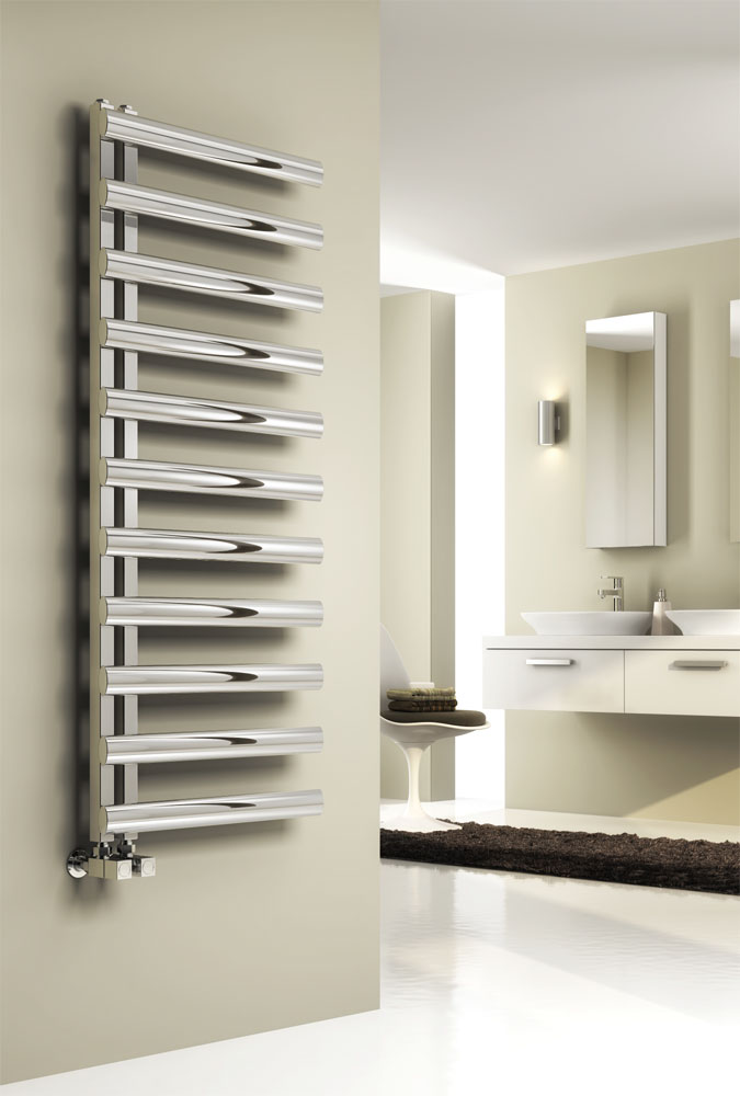 Reina Cavo Stainless Steel Radiator - Satin Large Image