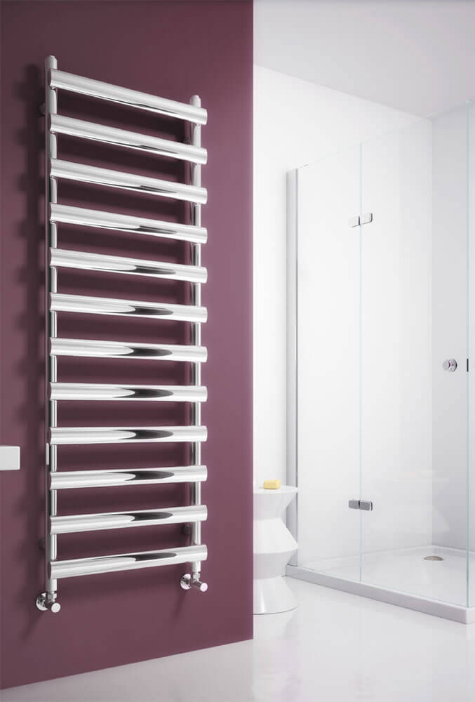 Reina Deno Stainless Steel Radiator - Polished Large Image