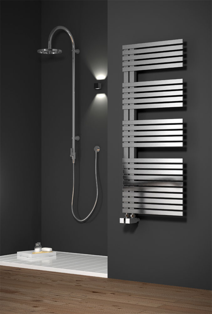 Reina Entice Stainless Steel Radiator - Satin profile large image view 1