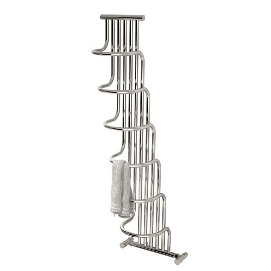 Reina Giada Steel Designer Radiator - 1500 x 563mm - Chrome Profile Large Image