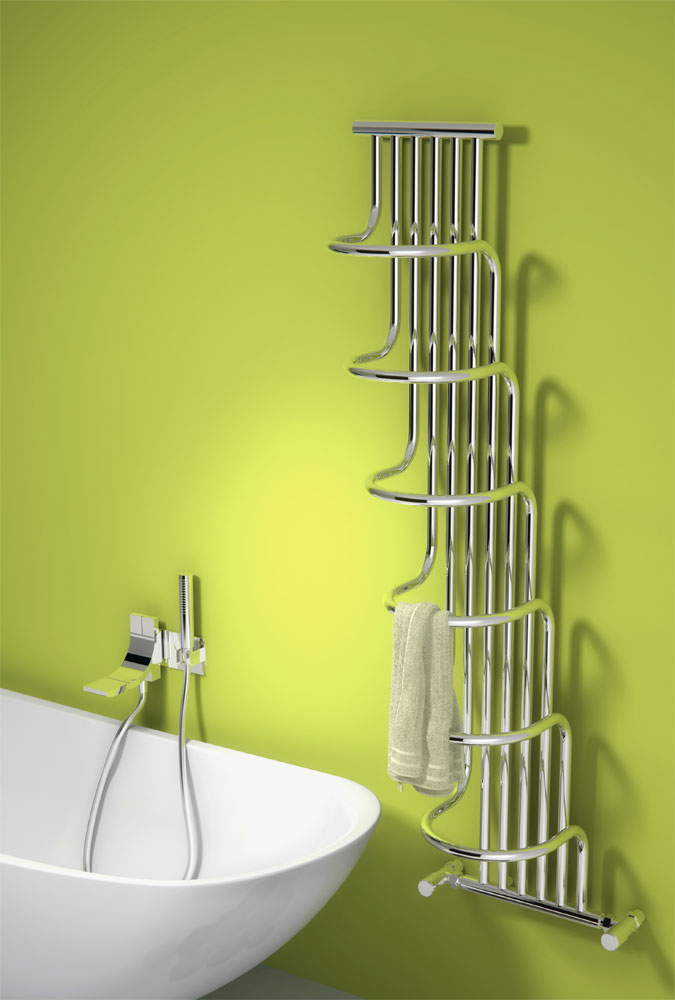 Reina Giada Steel Designer Radiator - 1500 x 563mm - Chrome Large Image