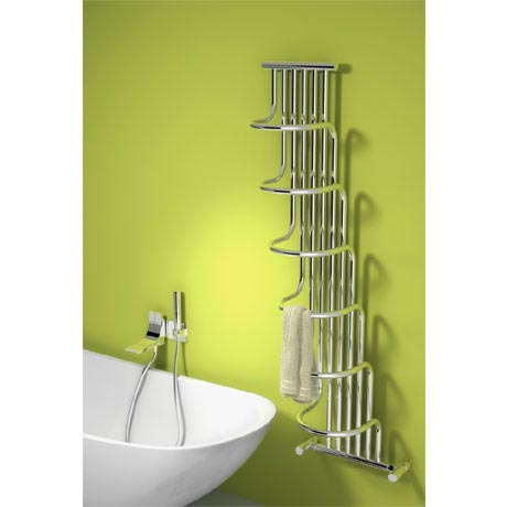 Reina Giada Steel Designer Radiator - 1500 x 563mm - Chrome