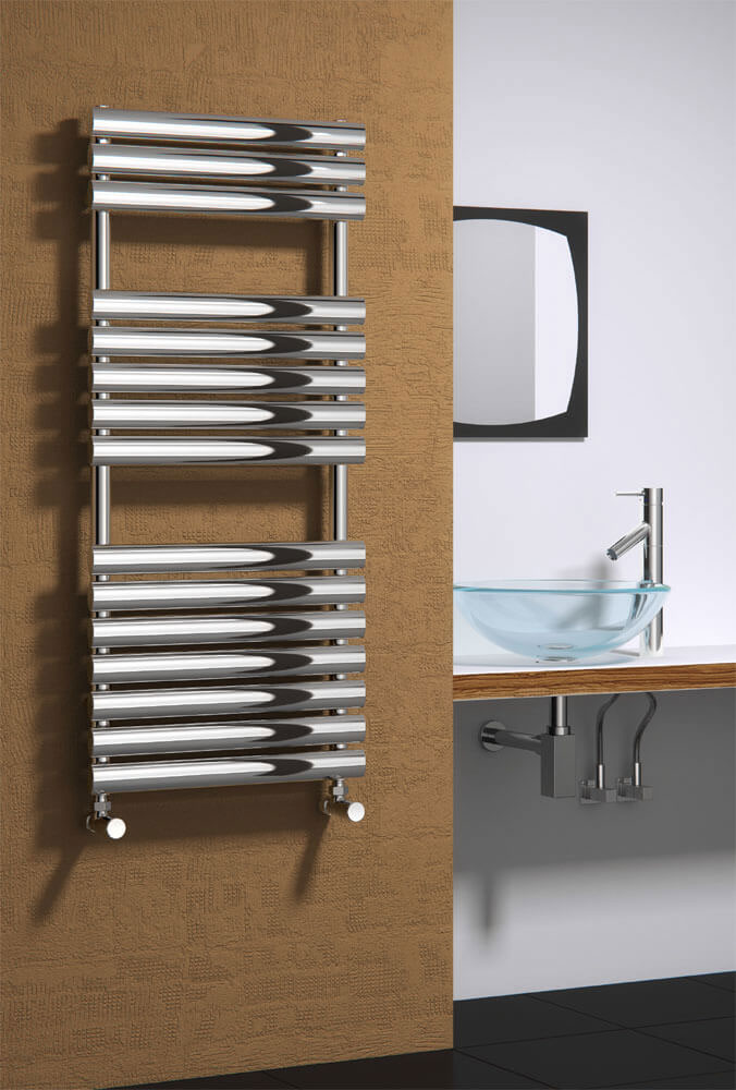 Reina Helin Stainless Steel Radiator - Polished Large Image
