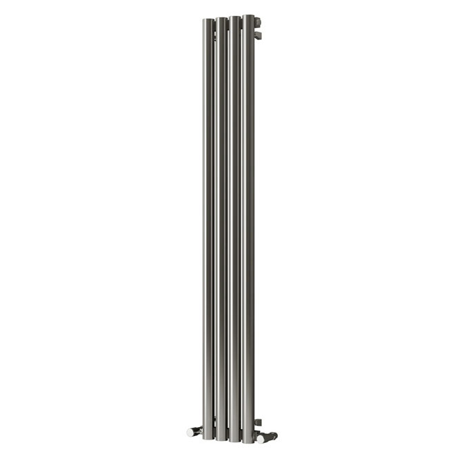 Reina Harmony Stainless Steel Radiator - 1800 x 250mm - Satin Profile Large Image