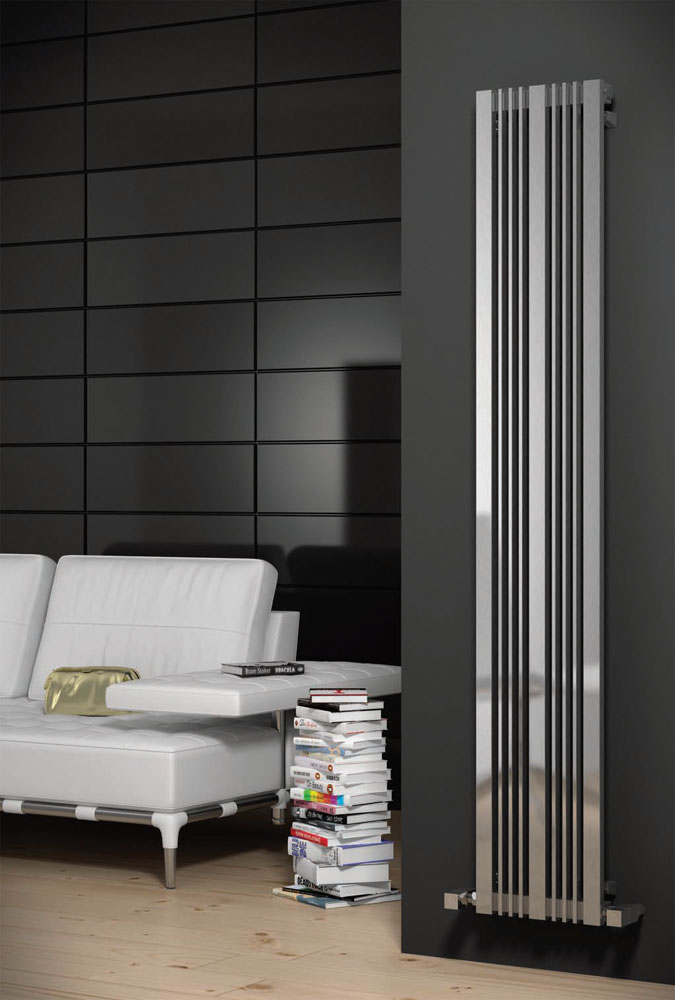 Reina Karia Stainless Steel Radiator - Satin profile large image view 1