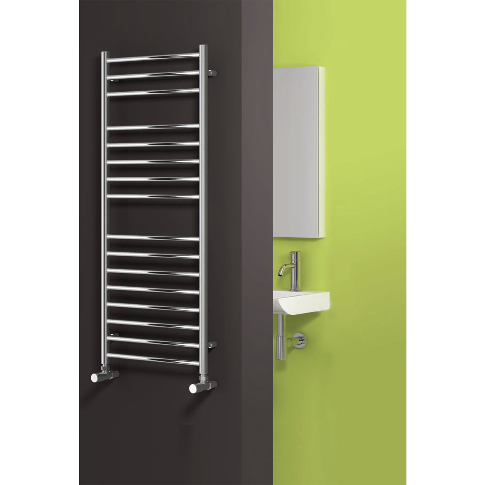 Reina Luna Flat Stainless Steel Radiator - Polished profile large image view 2