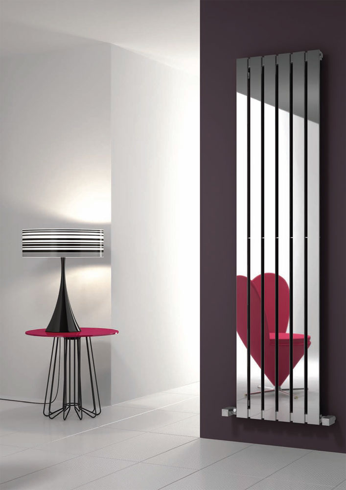 Reina Lavian Stainless Steel Radiator - Polished Large Image