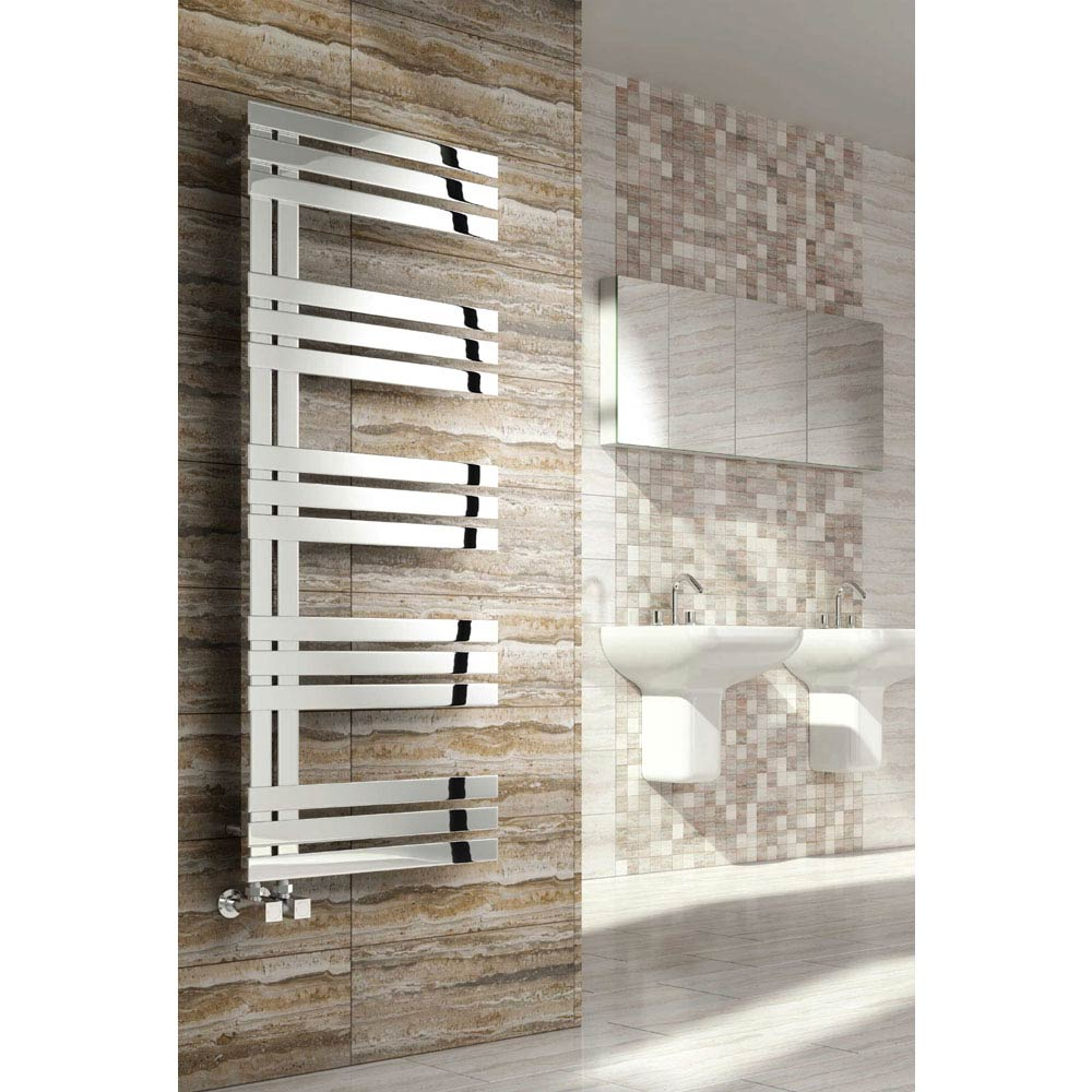 Reina Lovere Stainless Steel Radiator - Polished Large Image