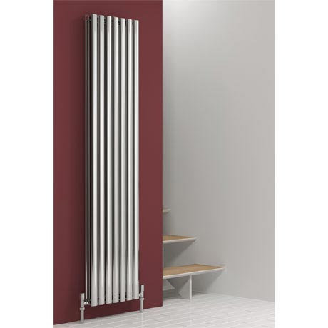 Reina Nerox Vertical Double Panel Stainless Steel Radiator - Polished