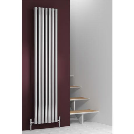 Reina Nerox Vertical Single Panel Stainless Steel Radiator - Polished