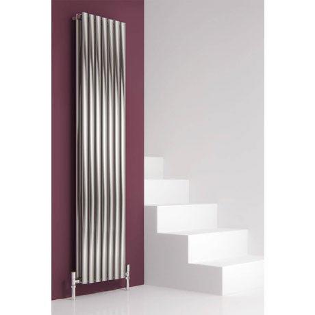 Reina Nerox Vertical Double Panel Stainless Steel Radiator - Satin