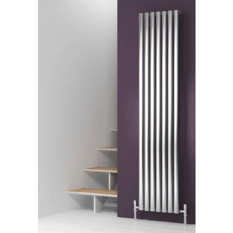 Reina Nerox Vertical Single Panel Stainless Steel Radiator - Satin