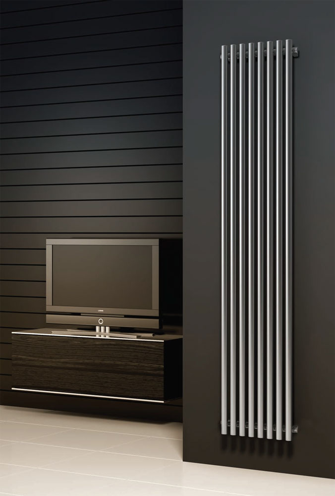 Reina Orthia Stainless Steel Radiator - Polished profile large image view 1
