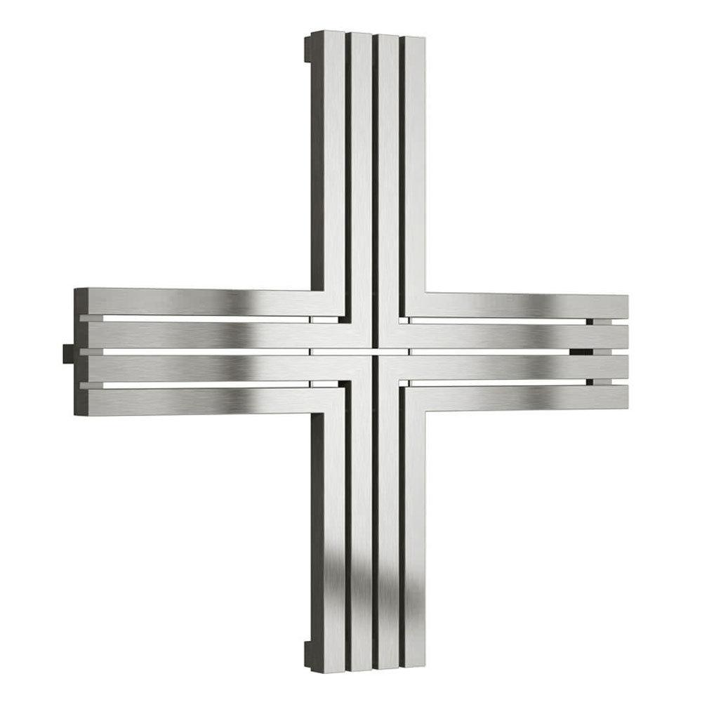 Reina Pozitive Stainless Steel Radiator - 1000 x 1000mm - Satin Large Image