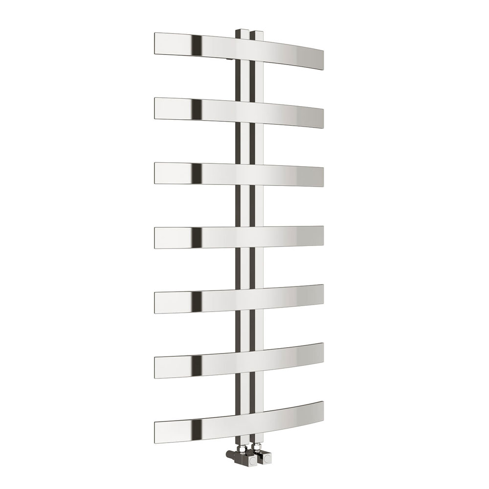 Reina Riesi Stainless Steel Radiator - 1200 x 600mm - Polished Profile Large Image