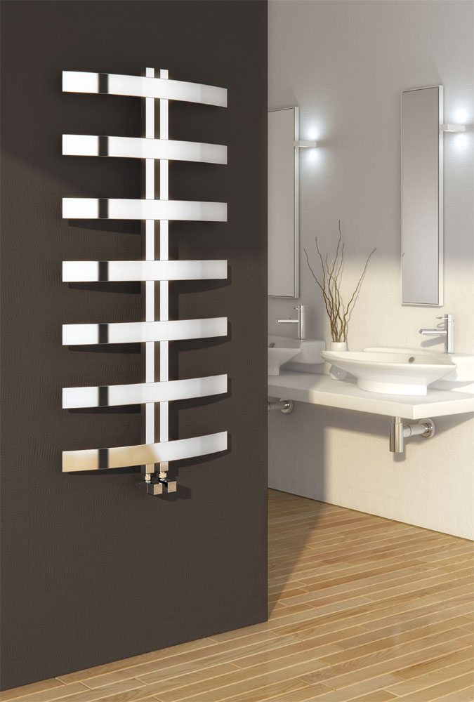 Reina Riesi Stainless Steel Radiator - 1200 x 600mm - Polished Large Image