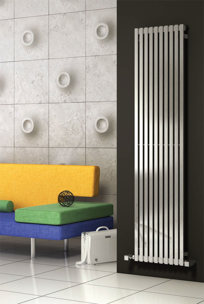 Reina Xeina Stainless Steel Radiator - Satin profile large image view 1