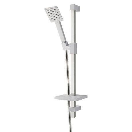 MX Combo Air Single Mode Adjustable Shower Kit - White/Chrome - RNU