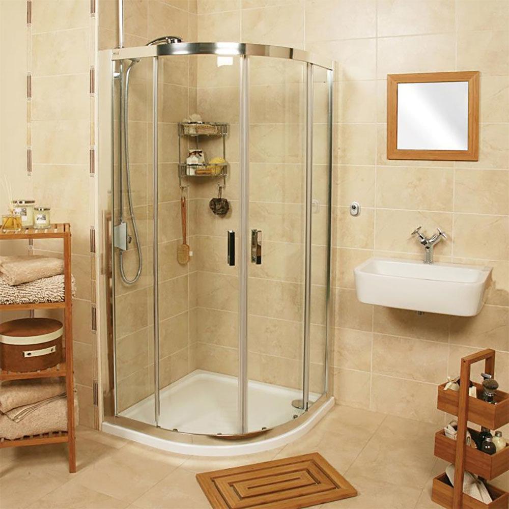 Roman - Embrace Twin Door Quadrant Shower Enclosure - 3 Size Options