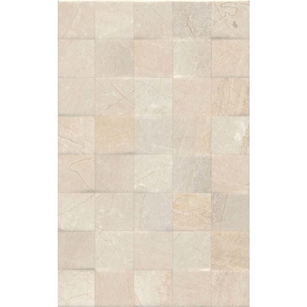 Loreno Light Cream Gloss Mosaic Tiles - 25 x 50cm Large Image