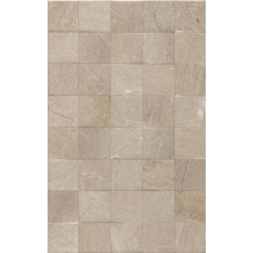 Loreno Dark Cream Gloss Mosaic Tiles - 25 x 50cm Large Image