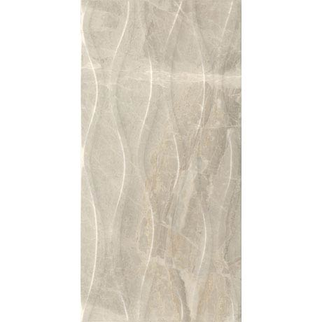 Gio Beige Gloss Marble Effect Decor Wall Tiles - 30 x 60cm