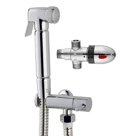 Douche Valve Thermostatic with Spray Kit Chrome