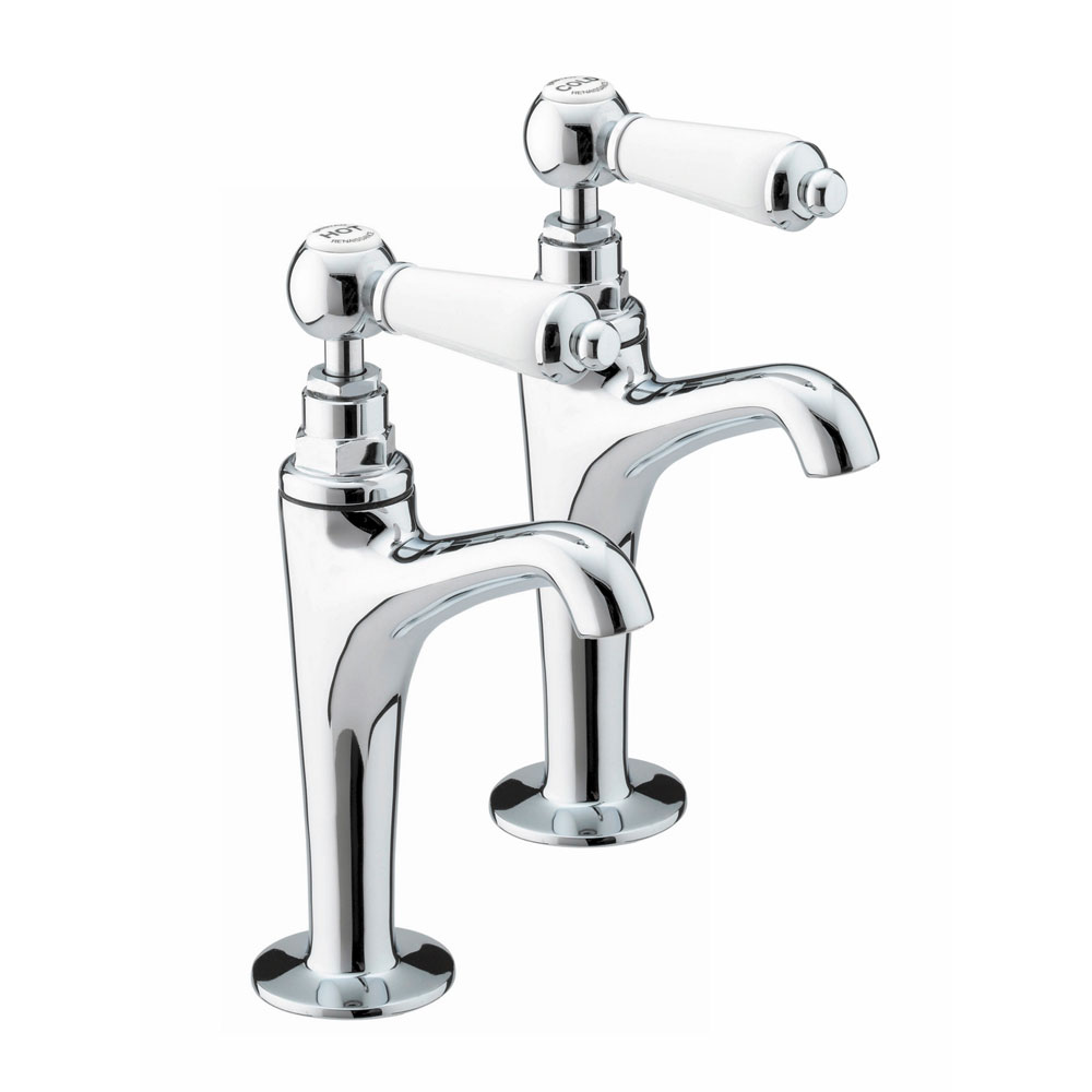 Bristan - Renaissance High Neck Pillar Taps - RS-HNK-C