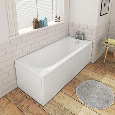 1600 x 700 Round Single Ended Bath + Panels