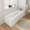1600 x 700 Round Single Ended Bath + Panels profile small image view 1