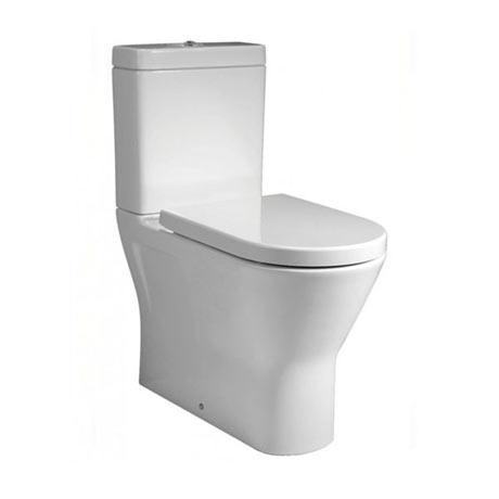 RAK Resort Mini Rimless Close Coupled BTW Toilet + Quick Release Soft Close Urea Seat