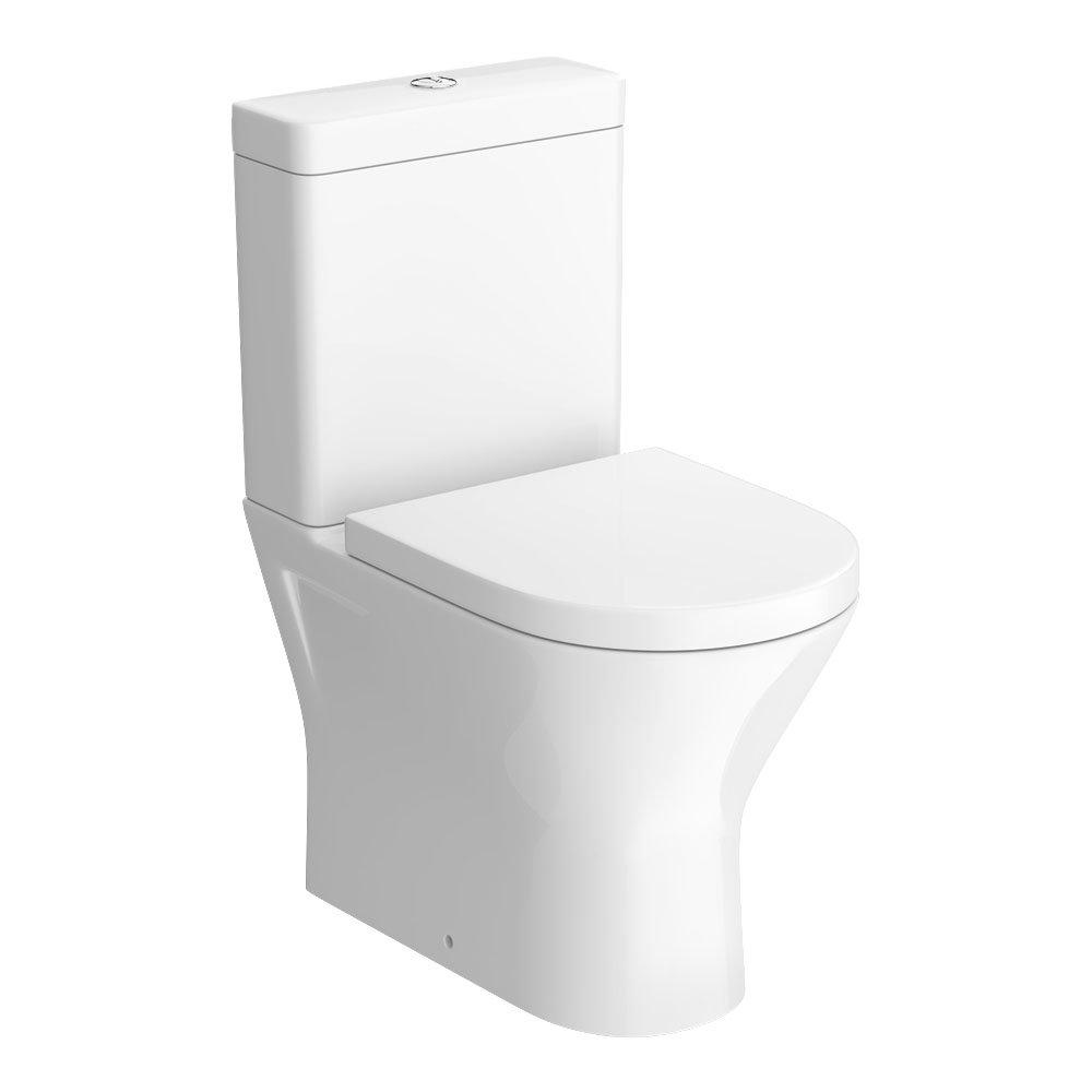 Soft Close Seat RAK Resort Mini Close Coupled Full Access Rimless Toilet WC Pack