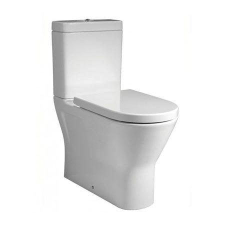 RAK Resort Maxi Rimless Close Coupled BTW Toilet + Quick Release Soft Close Urea Seat