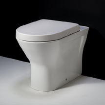 RAK Resort Extended Height Back to Wall Rimless Pan + Quick Release Soft Close Urea Seat