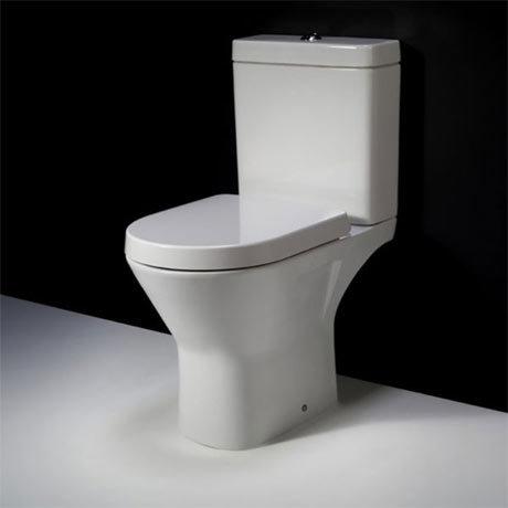 RAK Resort Mini Rimless Close Coupled Full Access Toilet + Quick Release Soft Close Urea Seat