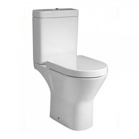 RAK Resort Maxi Rimless Close Coupled Full Access Toilet + Quick Release Soft Close Urea Seat