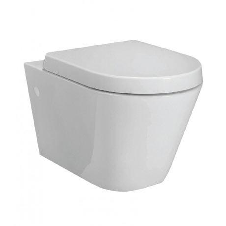 RAK Resort Wall Hung Rimless Pan + Quick Release Soft Close Urea Seat