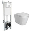 RAK Resort Wall Hung Rimless Pan inc. Dual Flush Concealed WC Cistern with Frame profile small image view 1