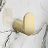 Arezzo Brushed Brass Robe Hook profile small image view 1