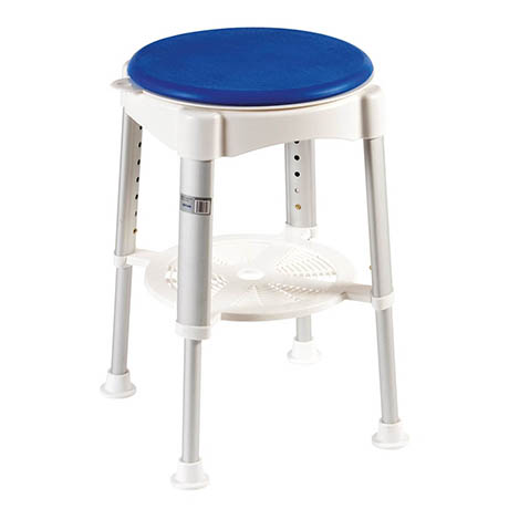 Drive DeVilbiss Bath Stool with Rotating Padded Seat - RTL12061