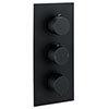 Arezzo Round Modern Triple Concealed Shower Valve - Matt Black profile small image view 1